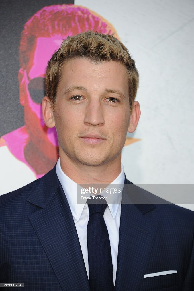 Actor Miles Teller attends the premiere of Warner Bros Pictures' 'War Dogs' held at the TCL Chinese Theater on August 15 2016 in Hollywood California