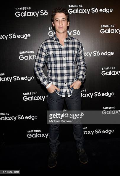 Actor Miles Teller attends the Samsung Studio LA Launch Event across from the Grove on April 28 2015 in Los Angeles California