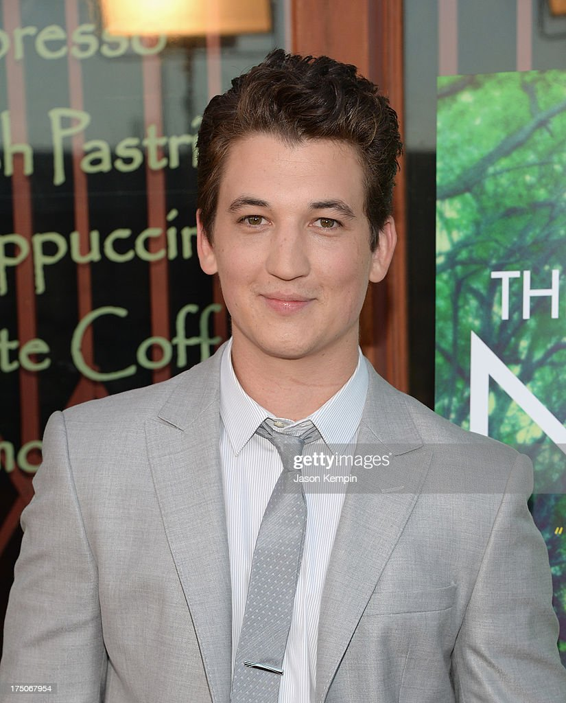 Actor <a gi-track='captionPersonalityLinkClicked' href=/galleries/search?phrase=Miles+Teller&family=editorial&specificpeople=6471673 ng-click='$event.stopPropagation()'>Miles Teller</a> attends the screening of A24's 'The Spectacular Now' at the Vista Theatre on July 30, 2013 in Los Angeles, California.