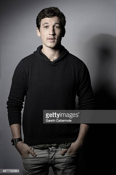 Actor Miles Teller poses in the portrait studio at the BFI London Film Festival 2014 on October 15 2014 in London England