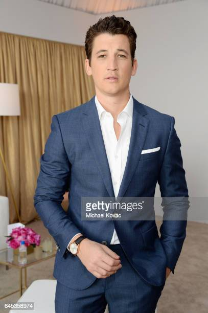 Actor Miles Teller with Piaget at the 2017 Film Independent Spirit Awards at Santa Monica Pier on February 25 2017 in Santa Monica California