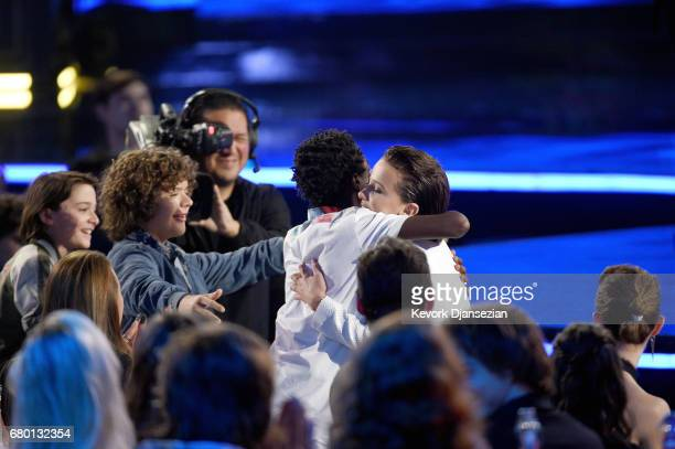 Actor Millie Bobby Brown accepts Best Actor in a Show for 'Stranger Things' during the 2017 MTV Movie And TV Awards at The Shrine Auditorium on May 7...