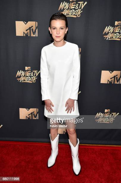 Actor Millie Bobby Brown attends the 2017 MTV Movie And TV Awards at The Shrine Auditorium on May 7 2017 in Los Angeles California