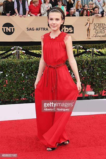 Actor Millie Bobby Brown attends the 23rd Annual Screen Actors Guild Awards at The Shrine Expo Hall on January 29 2017 in Los Angeles California