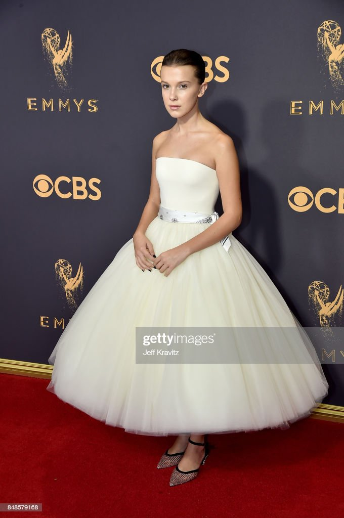 Actor Millie Bobby Brown attends the 69th Annual Primetime Emmy Awards at Microsoft Theater on September 17, 2017 in Los Angeles, California.
