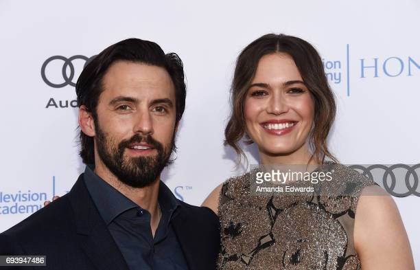 Actor Milo Ventimiglia and actress Mandy Moore arrive at the 10th Annual Television Academy Honors at the Montage Beverly Hills on June 8 2017 in...