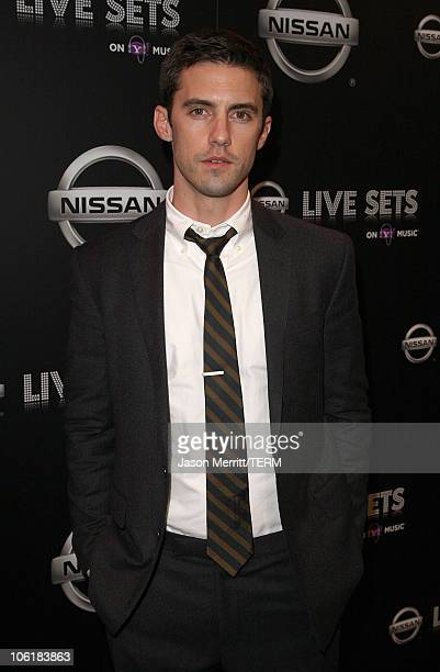 Actor Milo Ventimiglia arrives at the Nissan Live Sets on Yahoo Music Anniversary Celebration at FOX Studios Lot on November 27 2007 in Century City...