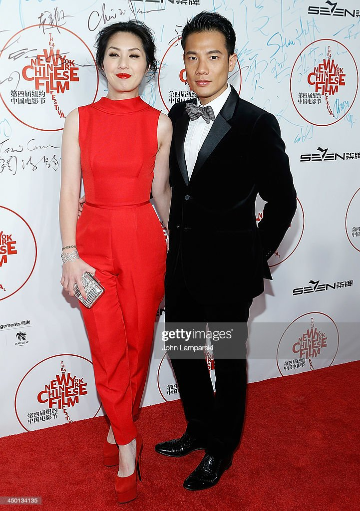 Actor Miriam Yeung and Real Yeung attend the 4th New York Chinese Film Festival Opening Night at Alice Tully Hall at Lincoln Center on November 5, 2013 in New York City.