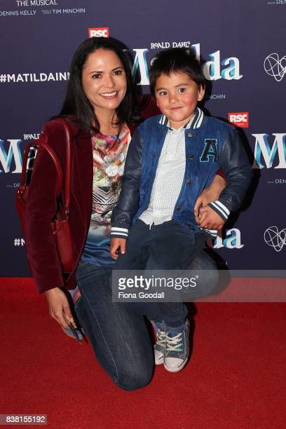 Actor Miriama Smith and Kau Marychurch attend the opening night of Matilda the Musical at Civic Theatre on August 24 2017 in Auckland New Zealand