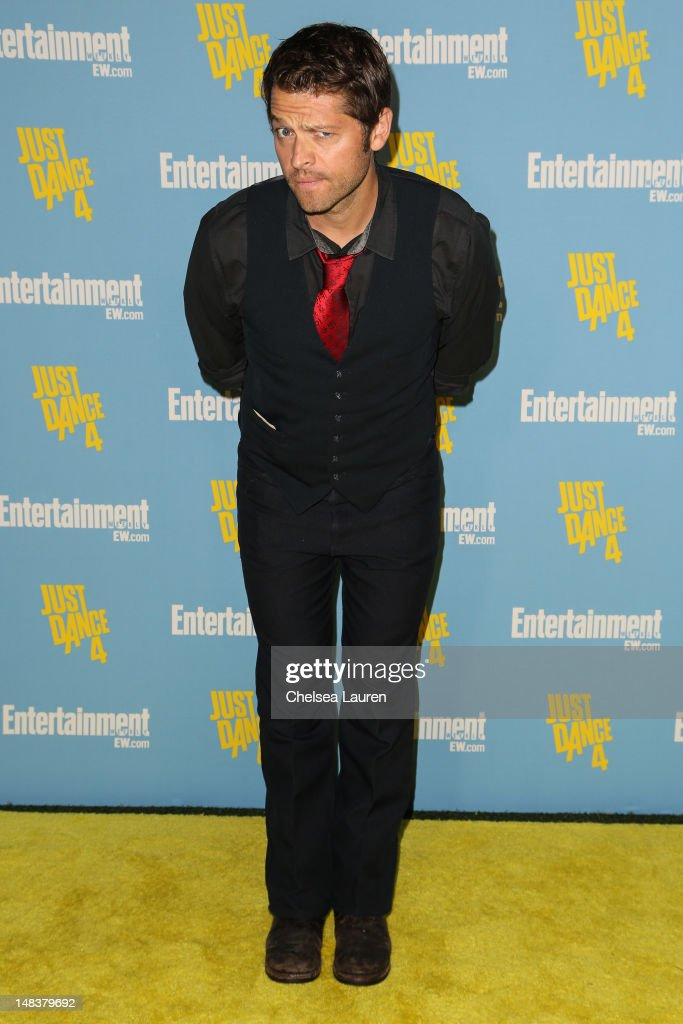 Actor <a gi-track='captionPersonalityLinkClicked' href=/galleries/search?phrase=Misha+Collins&family=editorial&specificpeople=5704481 ng-click='$event.stopPropagation()'>Misha Collins</a> arrives at Entertainment Weekly's Comic-Con celebration at Float at Hard Rock Hotel San Diego on July 14, 2012 in San Diego, California.