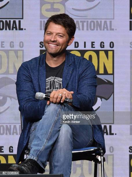 Actor Misha Collins at the 'Supernatural' panel during ComicCon International 2017 at San Diego Convention Center on July 23 2017 in San Diego...