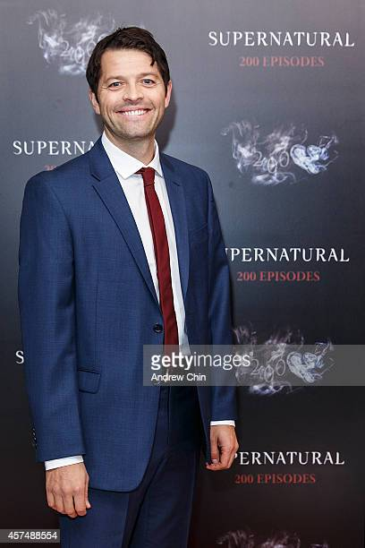 Actor Misha Collins celebrates the 200th episode of 'Supernatural' at Fairmont Pacific Rim Hotel on October 18 2014 in Vancouver Canada