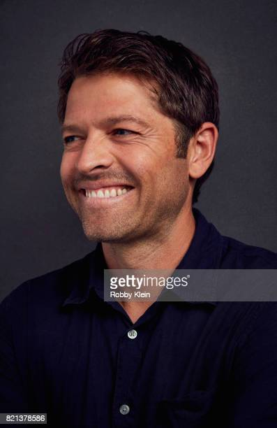 Actor Misha Collins from CW's 'Supernatural' poses for a portrait during ComicCon 2017 at Hard Rock Hotel San Diego on July 21 2017 in San Diego...