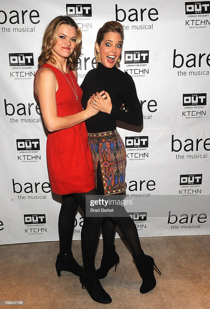 Actor Missi Pyle (L) and Christina Moore attends 'BARE The Musical' Opening Night After Party at Out Hotel on December 9, 2012 in New York City.