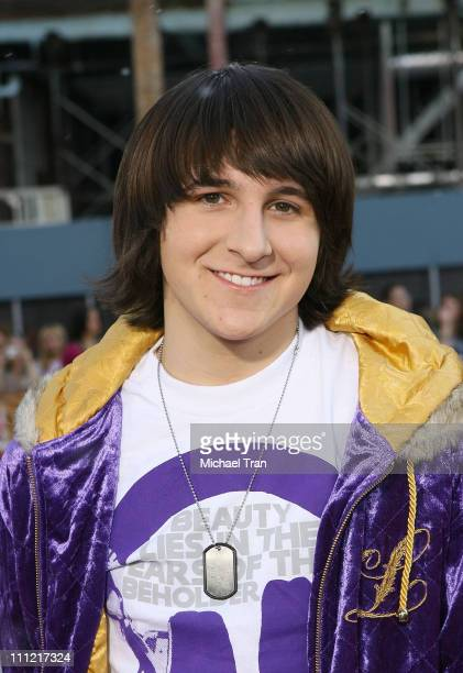 Actor Mitchel Musso arrives at the premiere of Warner Bros' 'Fred Claus' at Grauman's Chinese Theater on November 3 2007 in Hollywood California