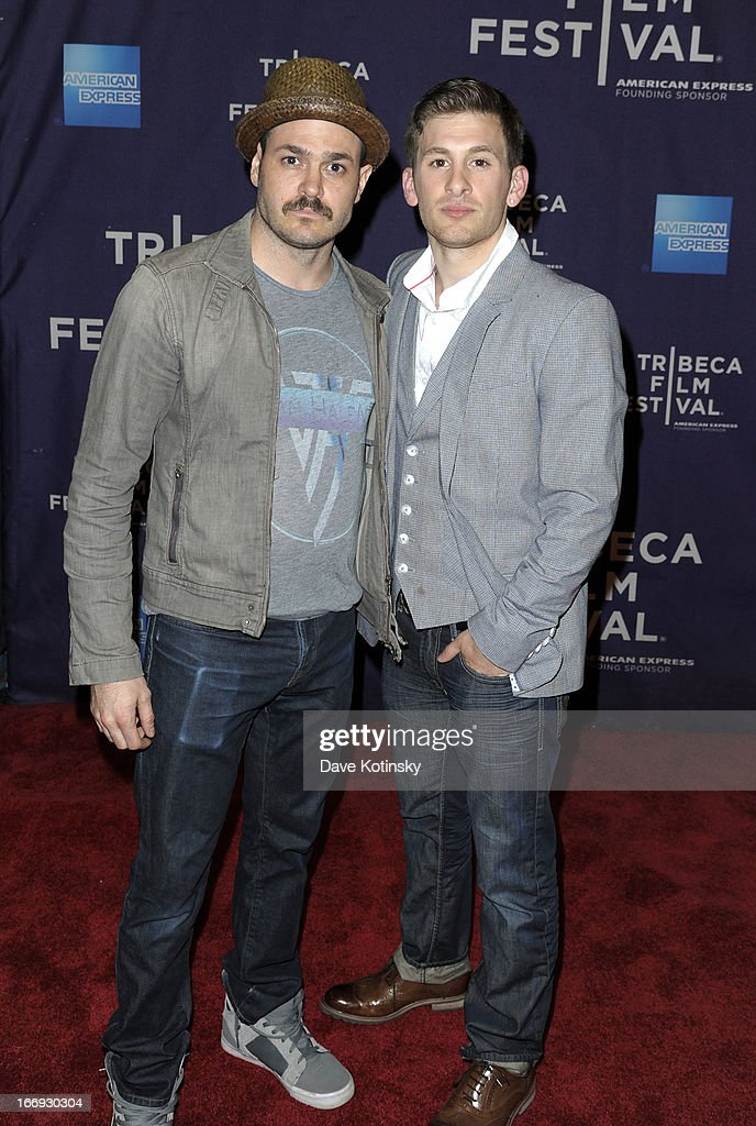 Actor Mitchell Jarvis (L) and director Cody Blue Snider attend the 'Fool's Day' Shorts Program during the 2013 Tribeca Film Festival on April 18, 2013 in New York City.