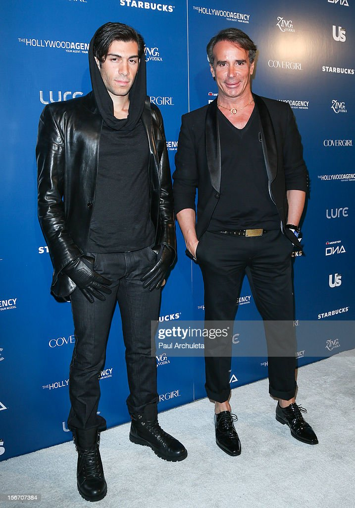 Actor Mohammad Molaei (L) and Fashion Designer Lloyd Klein (R) attend US Weekly Magazine's AMA after party at Lure on November 18, 2012 in Hollywood, California.