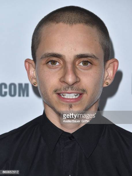 Actor Moises Arias arrives at the Beyond Fest screening of Amazon's 'JeanClaude Van Johnson' at The Egyptian Theatre on October 9 2017 in Los Angeles...