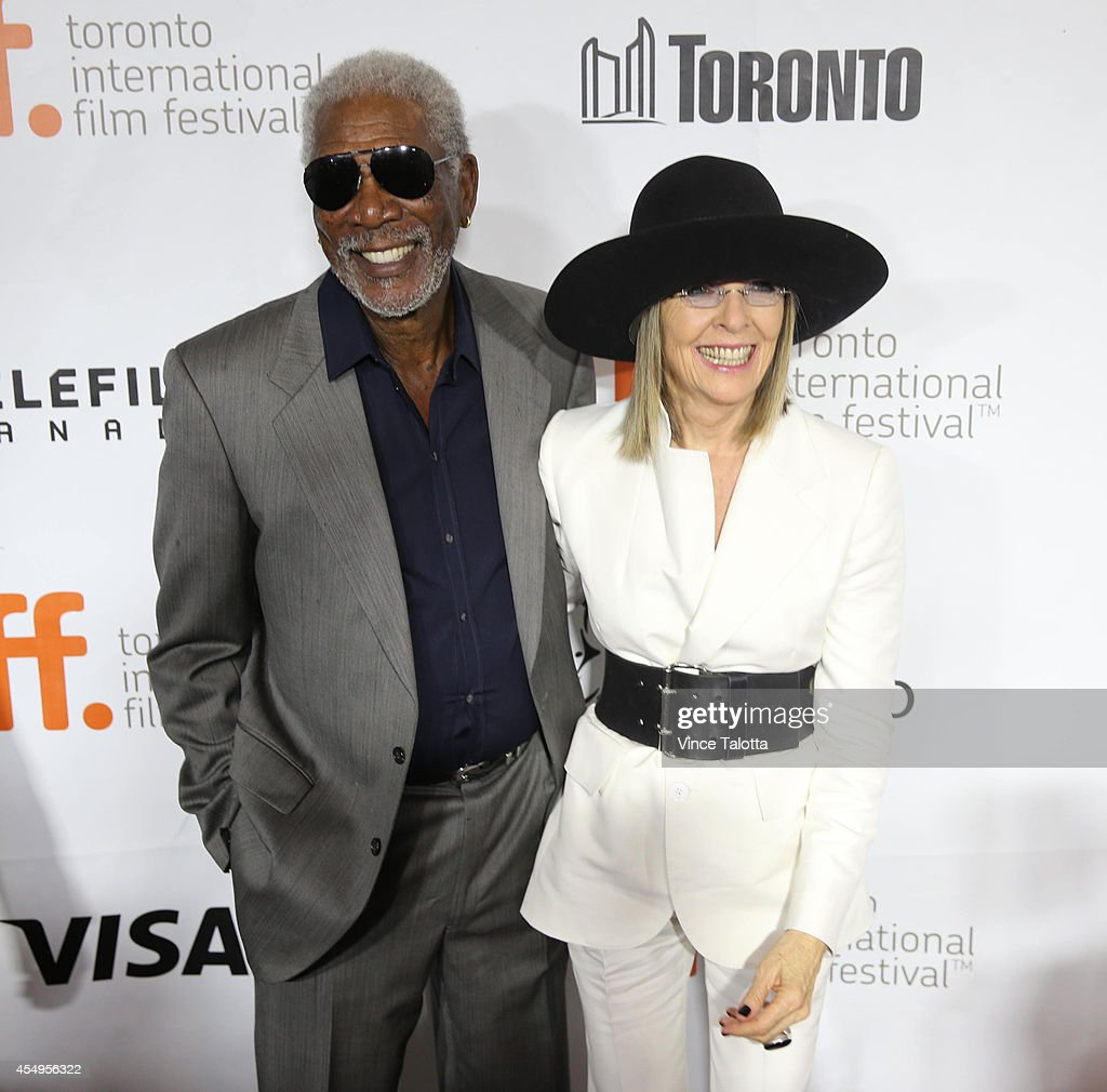 Actor Morgan Freeman and actress Diane Keaton arrive at the red carpet for the film Ruth Alex at the Roy Thompson Hall