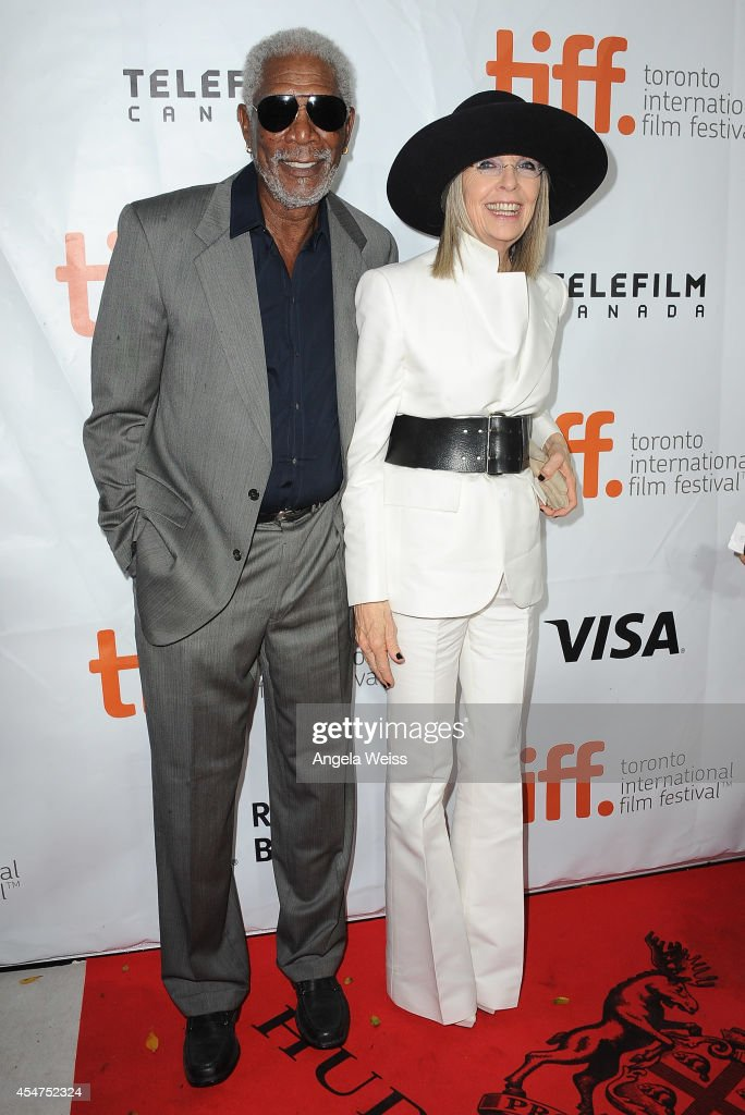 Actor Morgan Freeman and actress Diane Keaton attend the 'Ruth Alex' premiere during the 2014 Toronto International Film Festival at Ryerson Theatre...