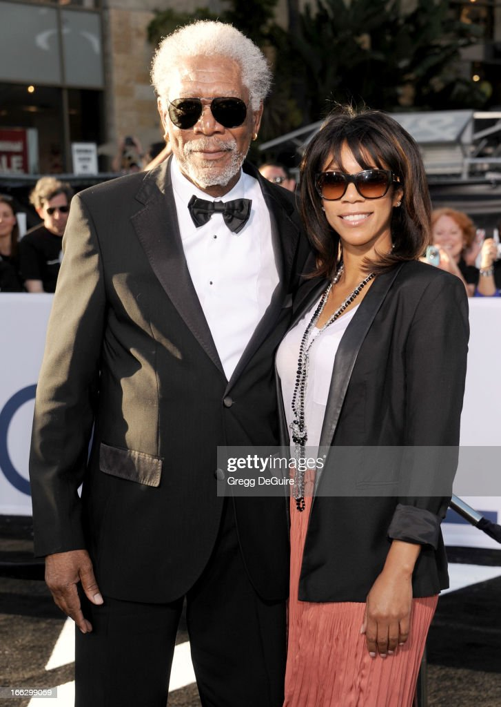Actor <a gi-track='captionPersonalityLinkClicked' href=/galleries/search?phrase=Morgan+Freeman&family=editorial&specificpeople=169833 ng-click='$event.stopPropagation()'>Morgan Freeman</a> and daughter Morgana Freeman arrive at the Los Angeles premiere of 'Oblivion' at Dolby Theatre on April 10, 2013 in Hollywood, California.