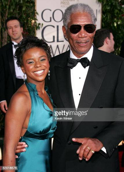 Actor Morgan Freeman and granddaughter E'Dena Hines arrive to the 62nd Annual Golden Globe Awards at the Beverly Hilton Hotel January 16 2005 in...
