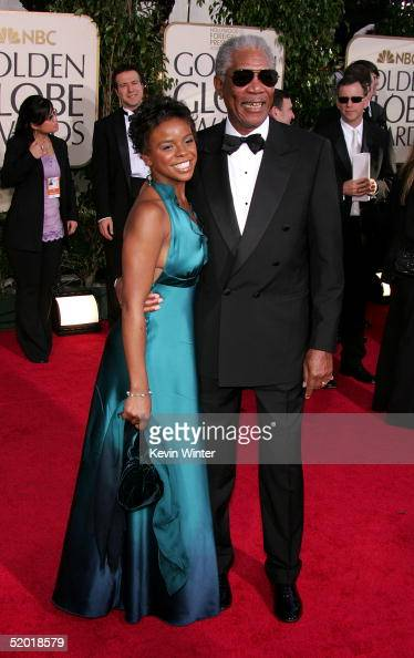 Actor Morgan Freeman and step granddaughter E'Dena Hines arrive to the 62nd Annual Golden Globe Awards at the Beverly Hilton Hotel January 16 2005 in...