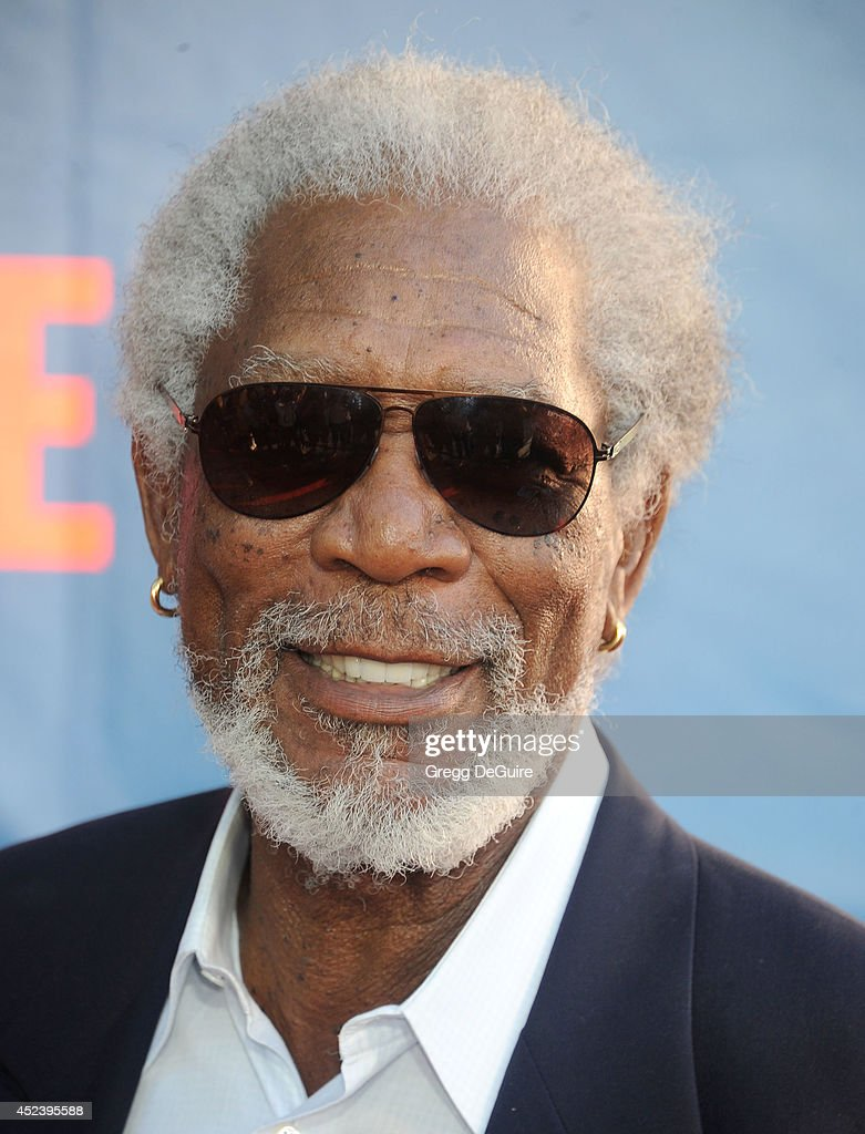 Actor <a gi-track='captionPersonalityLinkClicked' href=/galleries/search?phrase=Morgan+Freeman&family=editorial&specificpeople=169833 ng-click='$event.stopPropagation()'>Morgan Freeman</a> arrives at the 2014 Television Critics Association Summer Press Tour - CBS, CW And Showtime Party at Pacific Design Center on July 17, 2014 in West Hollywood, California.