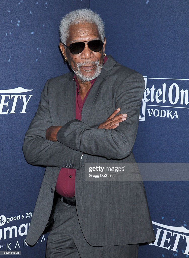 Actor Morgan Freeman arrives at the 3rd Annual unite4:humanity at Montage Hotel on February 25, 2016 in Beverly Hills, California.