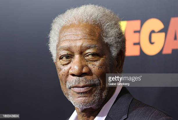 Actor Morgan Freeman arrives at the after party for a screening of CBS Films' 'Last Vegas' at Haze Nightclub at the Aria Resort Casino at CityCenter...