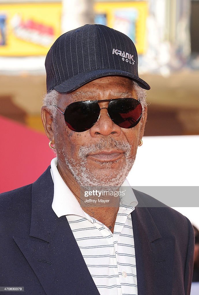 Actor <a gi-track='captionPersonalityLinkClicked' href=/galleries/search?phrase=Morgan+Freeman&family=editorial&specificpeople=169833 ng-click='$event.stopPropagation()'>Morgan Freeman</a> arrives at the Los Angeles premiere of 'The Lego Movie' held at Regency Village Theatre on February 1, 2014 in Westwood, California.