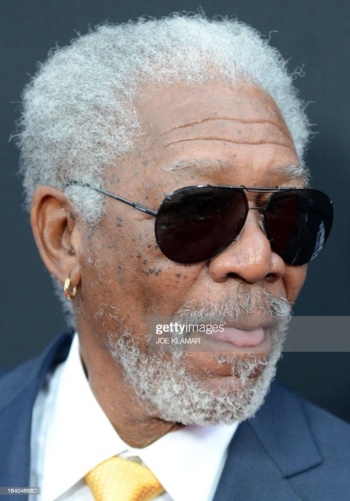 Actor Morgan Freeman arrives at the premiere of FilmDistrict's 'Olympus Has Fallen' at ArcLight Cinemas Cinerama Dome on March 18, 2013 in Hollywood, California.
