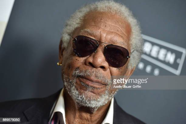 Actor Morgan Freeman arrives at the premiere of 'Just Getting Started' at ArcLight Hollywood on December 7 2017 in Hollywood California