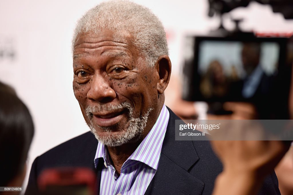 Actor Morgan Freeman attends AARP's Movie For GrownUps Awards at the Beverly Wilshire Four Seasons Hotel on February 8 2016 in Beverly Hills...