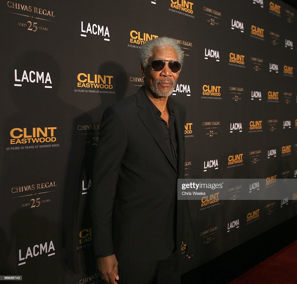 Actor Morgan Freeman attends an evening with Clint Eastwood hosted by Warner Bros, LACMA and Chivas Regal 25 at LACMA on February 17, 2010 in Los Angeles, California.