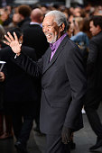 Actor Morgan Freeman attends European premiere of 'The Dark Knight Rises' at Odeon Leicester Square on July 18 2012 in London England