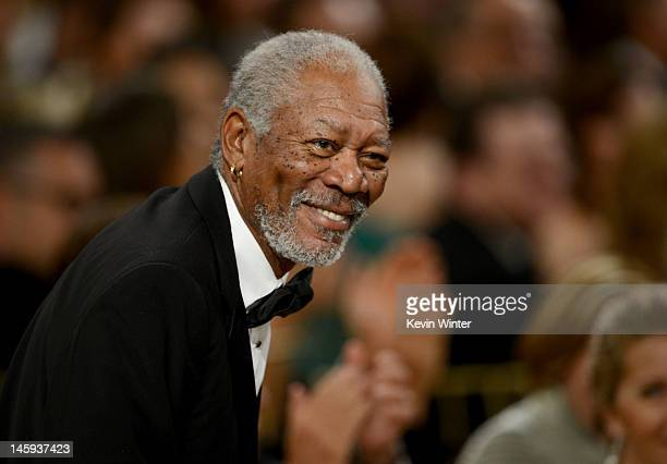 Actor Morgan Freeman attends the 40th AFI Life Achievement Award honoring Shirley MacLaine held at Sony Pictures Studios on June 7 2012 in Culver...
