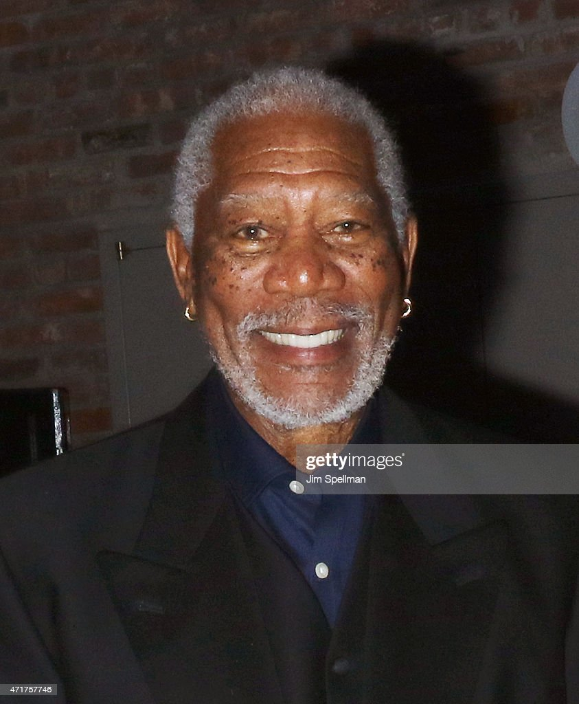 Actor Morgan Freeman attends the '5 Flights Up' New York premiere after party at BAM Peter Jay Sharp Building on April 30 2015 in the Brooklyn...