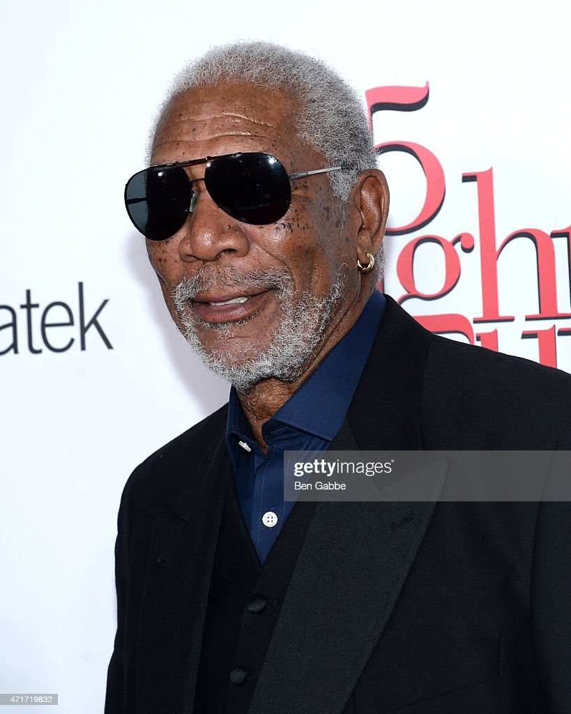 Actor Morgan Freeman attends the '5 Flights Up' New York premiere at BAM Rose Cinemas on April 30 2015 in New York City