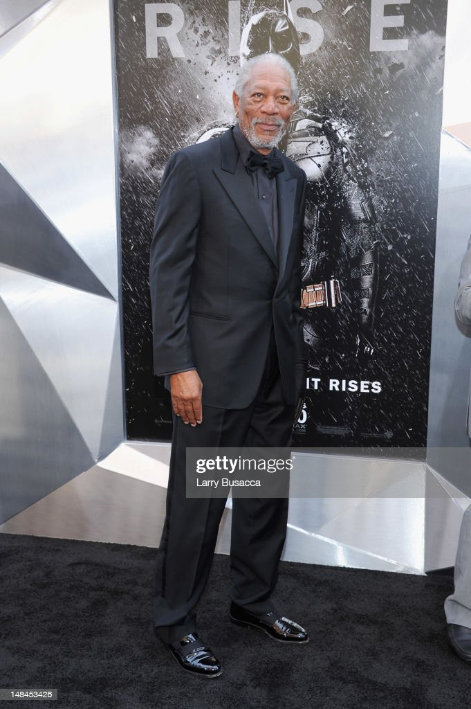 Actor <a gi-track='captionPersonalityLinkClicked' href=/galleries/search?phrase=Morgan+Freeman&family=editorial&specificpeople=169833 ng-click='$event.stopPropagation()'>Morgan Freeman</a> attends 'The Dark Knight Rises' premiere at AMC Lincoln Square Theater on July 16, 2012 in New York City.