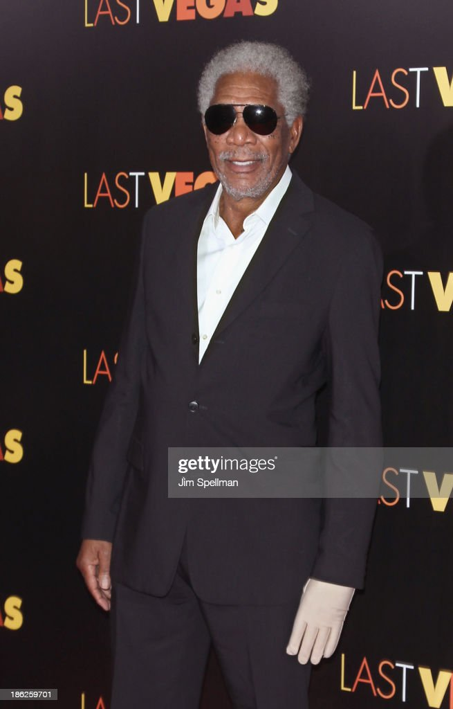 Actor <a gi-track='captionPersonalityLinkClicked' href=/galleries/search?phrase=Morgan+Freeman&family=editorial&specificpeople=169833 ng-click='$event.stopPropagation()'>Morgan Freeman</a> attends the 'Last Vegas' premiere at the Ziegfeld Theater on October 29, 2013 in New York City.