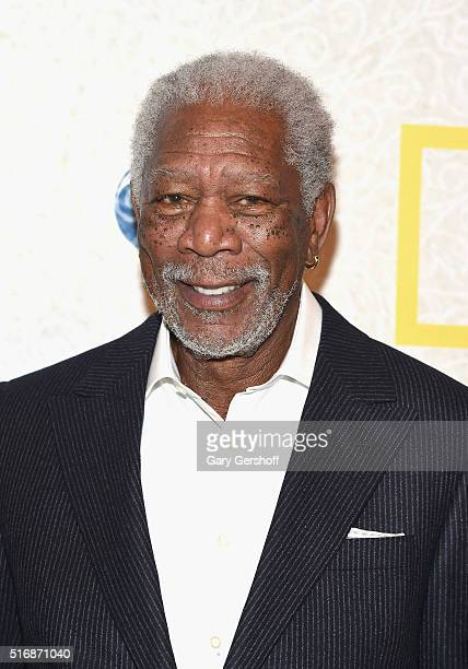Actor Morgan Freeman attends the National Geographic 'The Story Of God' with Morgan Freeman world premiere at Jazz at Lincoln Center on March 21 2016...
