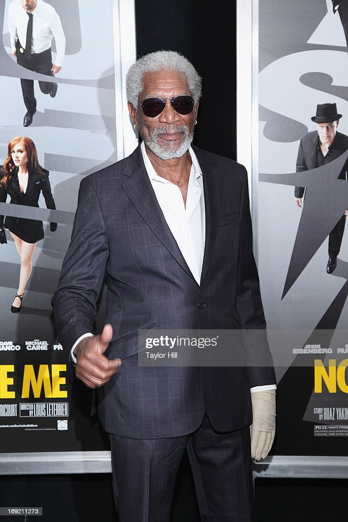 Actor <a gi-track='captionPersonalityLinkClicked' href=/galleries/search?phrase=Morgan+Freeman&family=editorial&specificpeople=169833 ng-click='$event.stopPropagation()'>Morgan Freeman</a> attends the 'Now You See Me' premiere at AMC Lincoln Square Theater on May 21, 2013 in New York City.