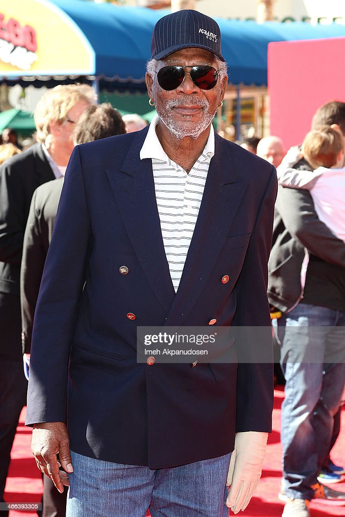 Actor <a gi-track='captionPersonalityLinkClicked' href=/galleries/search?phrase=Morgan+Freeman&family=editorial&specificpeople=169833 ng-click='$event.stopPropagation()'>Morgan Freeman</a> attends the premiere of 'The LEGO Movie' at Regency Village Theatre on February 1, 2014 in Westwood, California.