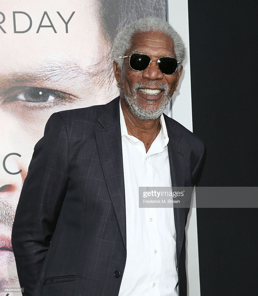 Actor Morgan Freeman attends the Premiere of Warner Bros Pictures and Alcon Entertainment's 'Transcedence' at the Regency Village Theatre on April 10...