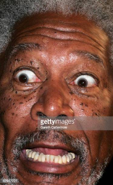 Actor Morgan Freeman attends the screening of 'Sin City' at the Grand Theatre during the 58th International Cannes Film Festival May 18 2005 in...