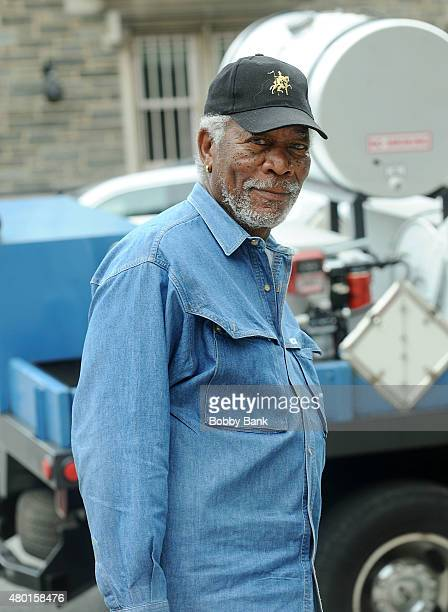 Actor Morgan Freeman on the set of 'Madam Secretary' on July 9 2015 in New York City