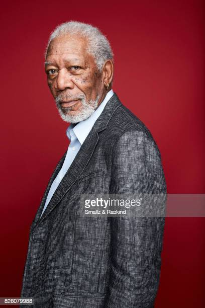 Actor Morgan Freeman poses for portrait session at the 2017 Summer TCA session for National Geographic Channel's 'The Story of Us with Morgan...