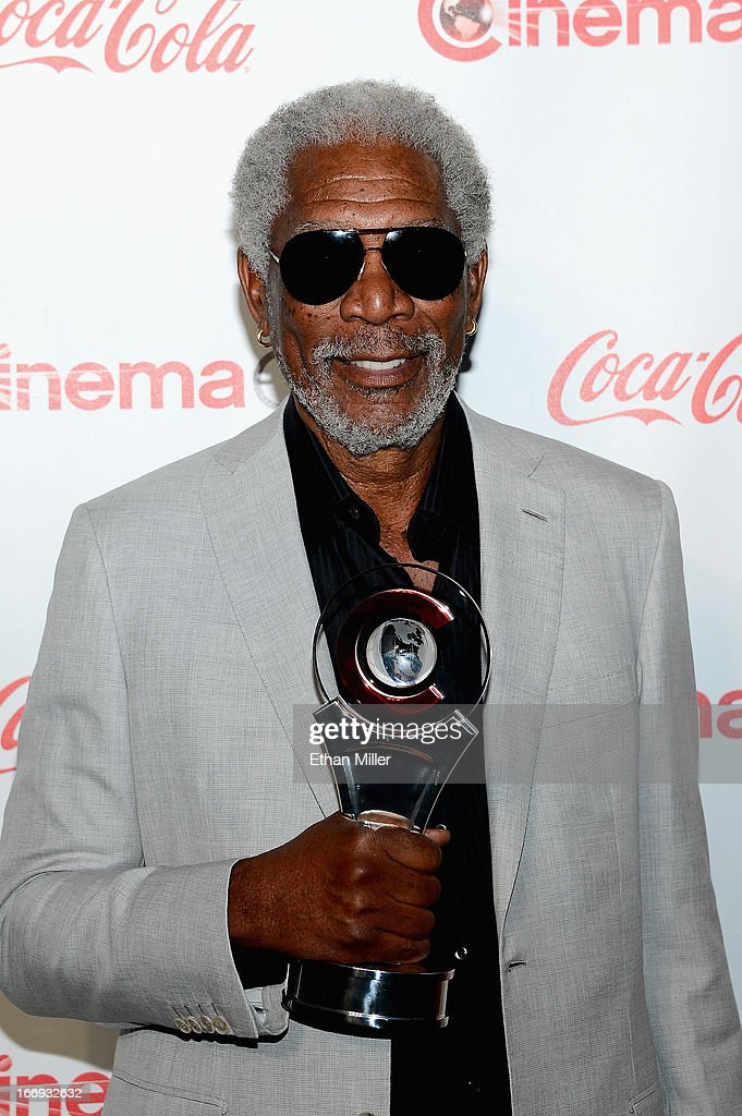 Actor <a gi-track='captionPersonalityLinkClicked' href=/galleries/search?phrase=Morgan+Freeman&family=editorial&specificpeople=169833 ng-click='$event.stopPropagation()'>Morgan Freeman</a>, recipient of the Cinema Icon Award, arrives at the CinemaCon awards ceremony at the Pure Nightclub at Caesars Palace during CinemaCon, the official convention of the National Association of Theatre Owners, on April 18, 2013 in Las Vegas, Nevada.