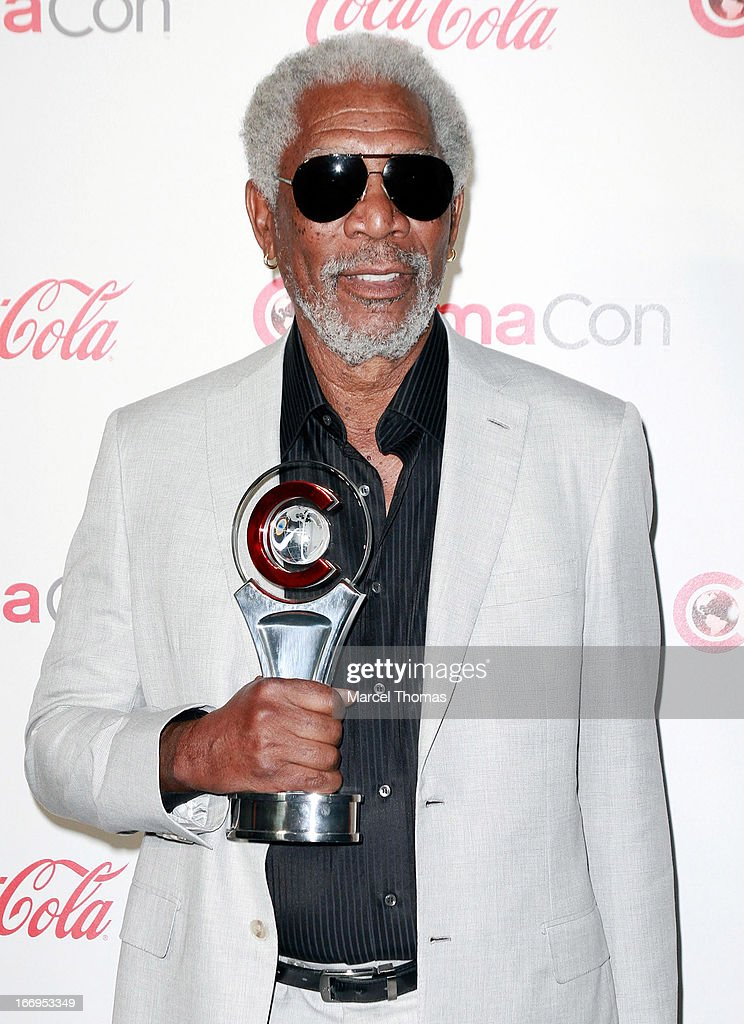 Actor <a gi-track='captionPersonalityLinkClicked' href=/galleries/search?phrase=Morgan+Freeman&family=editorial&specificpeople=169833 ng-click='$event.stopPropagation()'>Morgan Freeman</a>, recipient of the Cinema Icon Award arrives at the CinemaCon Big Screen Achievement Awards at the Pure Nightclub at Caesars Palace during CinemaCon 2013 on April 18, 2013 in Las Vegas, Nevada.